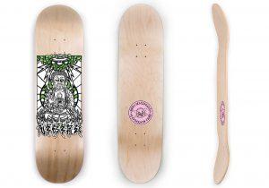 Buddha on Standard Rocket Skateboard