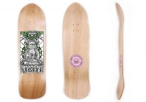 Buddha on Voyager Skateboard